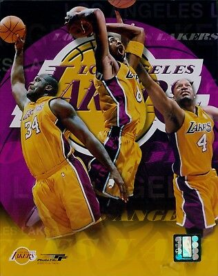 Los Angeles Lakers Kobe Shaq Odom Licensed Unsigned Glossy 8x10 Photo NBA