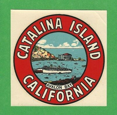 "Vintage Original 1946 Goldfarb Souvenir ""catalina Island"" California Decal Art"