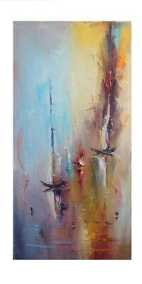 Large Modern Abstract Hand-Painted Oil Painting Home Decor Art On Canvas Wall