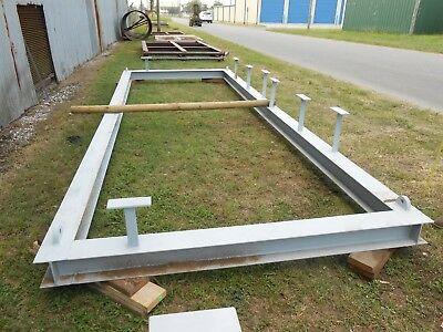 "EXCO BOTTOM SKIDS 19' 3 1/2"" X 7' i beam, mini bridge fabrication tank skid"