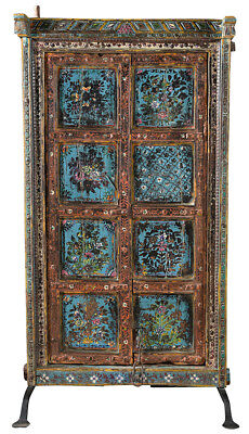 Stunning Carved  Antique Wood  Doors on Iron Stand,36'' x 64''H.