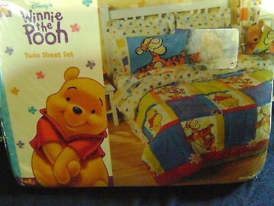 NEW Disney's Tigger & Winnie the Pooh TWIN Sheet Set Brightly Colored