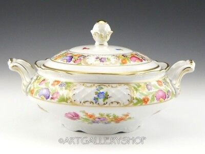 Schumann DRESDEN FLOWERS EMPRESS COVERED VEGETABLE SERVING BOWL TUREEN with LID