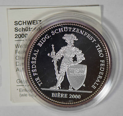 Switzerland 2000 50 Francs silver proof mintage 3000 S0215 combine shipping