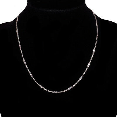2/6/12PCS wholesale Silver Plated Fashion Quartet Chain Necklace Gifts 16-30inch