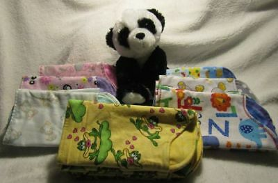 Girls Double Flannel Burp Cloths - Handmade - SEE DETAILS FOR SPECIAL OFFER