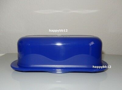 Tupperware New Oval Open House Butter Dish Tokyo Blue