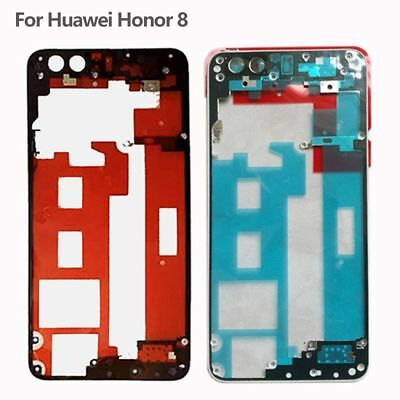 Middle Frame Rear Bezel Plate Chassis Housing & Adhesive For Huawei Honor 8