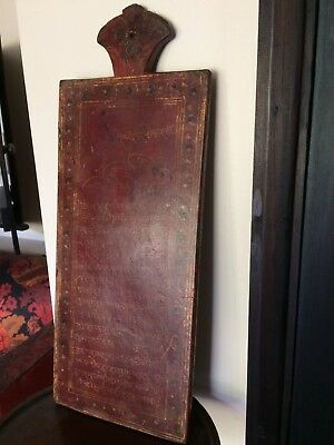 Antique Indian decorated manuscript board Takhti 19th century