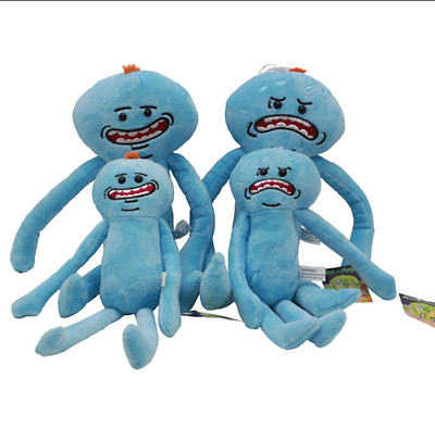 Hot Rick And Morty Mr Meeseeks Happy & Sad Face Stuffed Plush Doll Soft Toy gift
