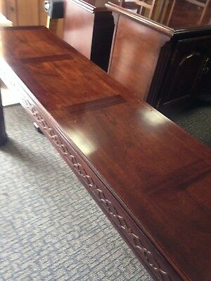 Henredon Chinese Chippendale Style Library-Sofa- Entry Table