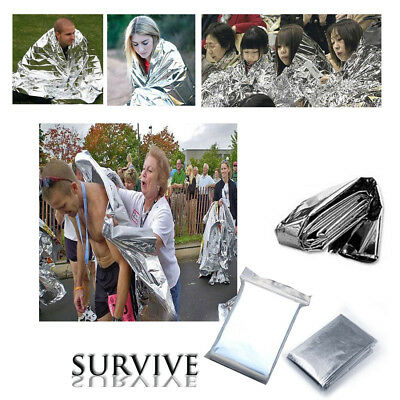6/12PCS Outdoor First Aid Survival Foil Waterproof Rescue Emergency Blanket