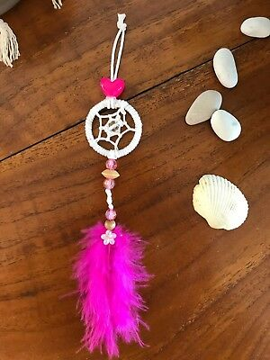 Mini Dream Catcher Keyring Car Mirror Hanger Purse Handbag Charm Wedding Favours
