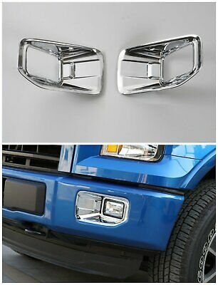 ABS Chrome Car Front Fog Lamp Light trim Cover for Ford F-150 2015-2017 2pcs