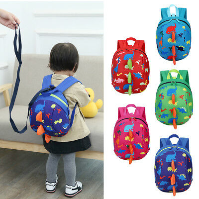 Baby Cartoon Toddler Kids Dinosaur Safety Harness Strap Bag Backpack With Reins