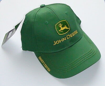 "John Deere Green ""Owners Edition"" Logo Cap New Version Nwt"