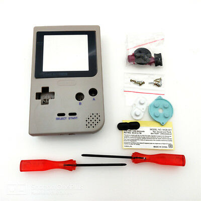 Gray Full Housing Shell Case Kit for Nintendo Game Boy Pocket GBP