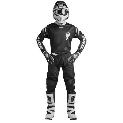 New 2019 38 XXL Thor Sector ZONES Black Jersey Pant Kit Motocross Enduro