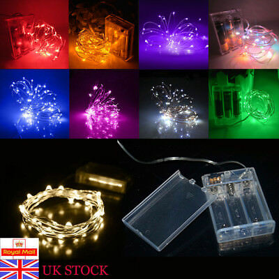 20/30/40/50/100 LEDs Battery Micro Rice Wire Copper Fairy String Lights Party