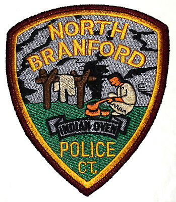 NORTH BRANFORD CONNECTICUT CT Police Sheriff Patch INDIAN NATIVE AMERICAN CHIEF