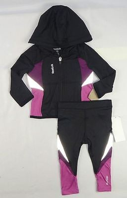 Reebok Baby Girls, Girl Colorblock Tracksuit Set size 12 months