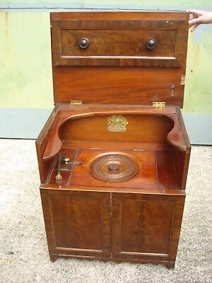 A Victorian Mahogany flushing commode