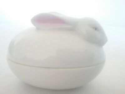 Collectible Porcelain glass nesting Rabbit Bunny covered dish