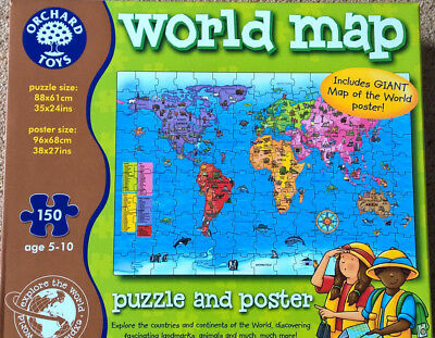 Orchard toys world map jigsaw poster educational 5 10 yrs orchard toys world map jigsaw poster educational 5 10 yrs excellent condition gumiabroncs Choice Image