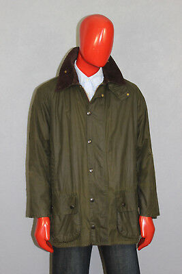 Vintage Mens Barbour Beaufort Wax Jacket Green Size c40/102 cm