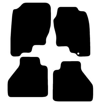 Tailored Black Car Floor Mats Carpets 4pc Set with Clips for Nissan Navara 05-10