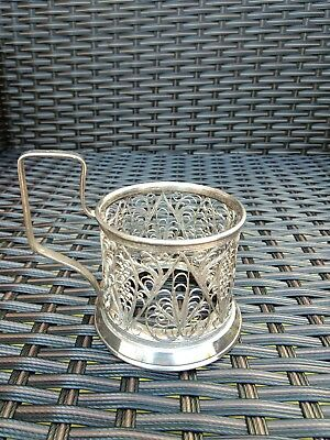 SILVER FILIGREE CUP HOLDER 93g