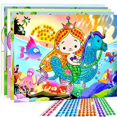 5D Diamond Embroidery Kids Painting Kit Mosaic Learning Puzzles Cartoon DIY Sm