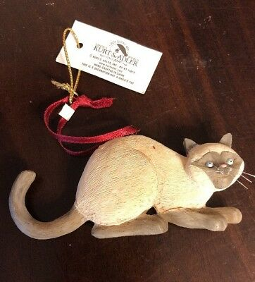 Kurt S Adler Siamese Cat Ornament Brand New With Tags
