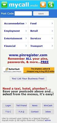 Direct Call UK Busi. Directory - www.MyCall.mobi. Bargain Mobile website!