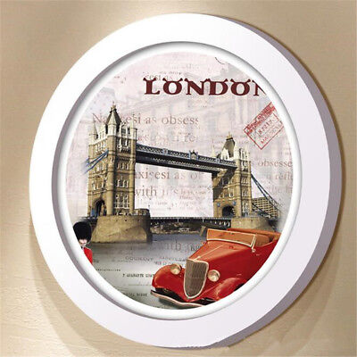 Modern Round Photo Frame Wooden Hanging Picture Holder Bedroom Decoration Newly