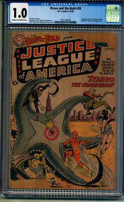Brave And The Bold #28 Cgc 1.0, 1St App Justice League Of America
