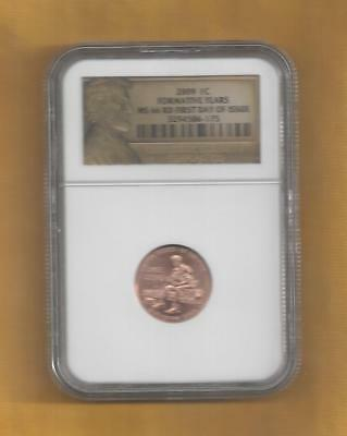 2009 Lincoln Bicentennial Cent Formative Years NGC MS66 RD First Day of Issue