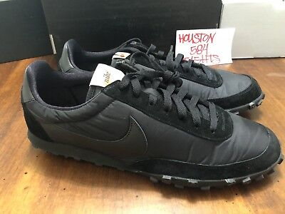 1716bff922d6 Nike X Comme Des Garcons CDG Waffle Racer 17 Mens Size 13 Black Shoes  AA9709 001