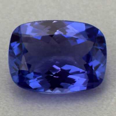 1.80 Cts Cushion Cut 100% Natural VVS1+ Violet-Blue AAAA Color Tanzanite