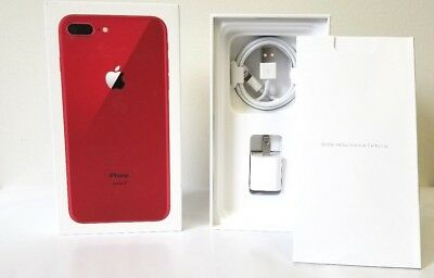 iPhone 8 Plus Red Box Original Apple Retail Box with Accessories Option 8 8+
