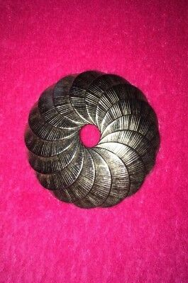 Rare!☆ANTIQUE/VINTAGE☆Beautiful☆Round☆Circle☆Coin☆Silver☆Metal☆Wreath☆Pin☆Brooch