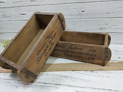 Antique Vintage Trinket Box Storage Brick Mould Crate Tool Box Bits and Bobs