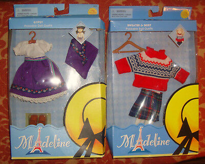 Madeline Doll Gypsy & Sweater & Skirt Outfits
