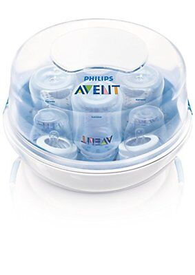 Philips AVENT Microwave Steam Sterilizer BPA Free Fast Slow Nipple 2 Count