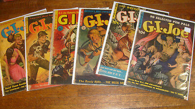 G I Joe, Ziff Davis Comics, #11, 19, 22, 34, 37, 38... All With Painted Covers