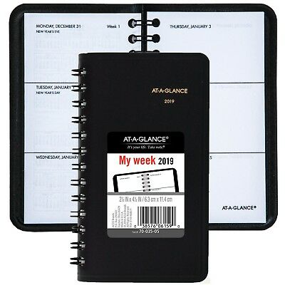 """2019 At-A-Glance 70-035, 70-035-05, Weekly Pocket Planner, 2-1/2 x 4-1/2"""""""