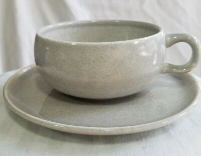 RUSSEL WRIGHT AMERICAN MODERN Gray CUP & SAUCER