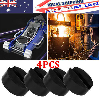 4X Jack Pad Universal Car Truck Slotted Frame Block Hockey Rubber Pad Adapter