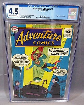 ADVENTURE COMICS #256 (Jack Kirby Green Arrow Origin) CGC 4.5 1959 DC Superboy