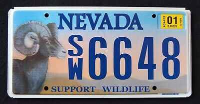 """NEVADA """" SUPPORT WILDLIFE - BIG HORN SHEEP RAMHORN """" NV SPECIALTY License Plate"""